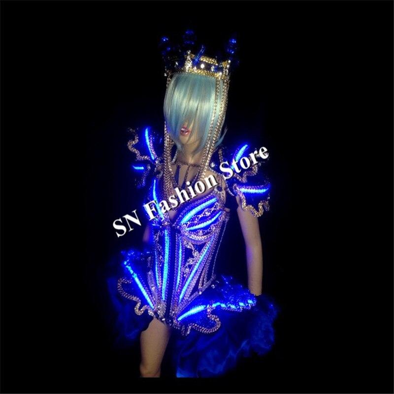 KS001Cosplay kristallvalgustusega valgustusega naiste laval - Pühad ja peod - Foto 6