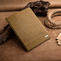 Ultra Thin Standing Tablet Cover For IPad Air 2 Original Cowhide Genuine Leather Case For IPad