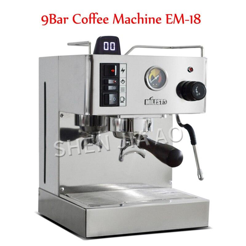 9Bar EM-18  Italian Semi-automatic Coffee Machine Espresso Coffee Machine Coffee Maker With Professional Pump For Family 220V