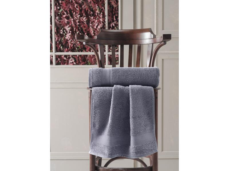 Hand towel and face KARNA, DESTAN, 50*90 cm, anthracite hand towel and face bayramaly 50 90 cm lilac