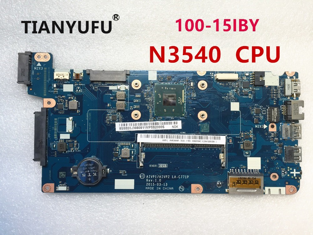 AIVP1 AIVP2 LA C771P Motherboard For Lenovo B50 10 100 15IBY Laptop motherboard with N3540 CPU