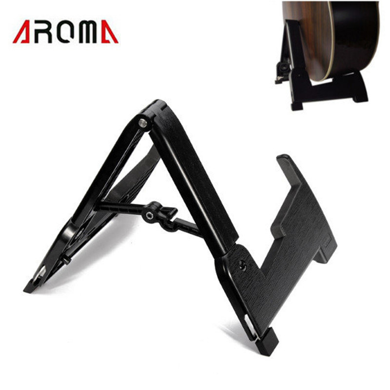 Aroma AGS-02 Foldable Guitar Stand Rack A-frame Guitarra Ukulele Holder Bracket Mount for Guitar Bass Stringed Instruments Parts aroma ags 03 compact rabbit shape guitar stand a frame holder bracket for all sizes guitar bass stringed instrument accessories