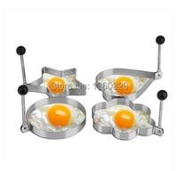 Regalo de navidad de Huevo de Cook Fried Pancake Moldes de Huevos de Acero Inoxidable 4 unids Talladora Del Molde Del Molde Herramienta de la Cocina Envío Gratis