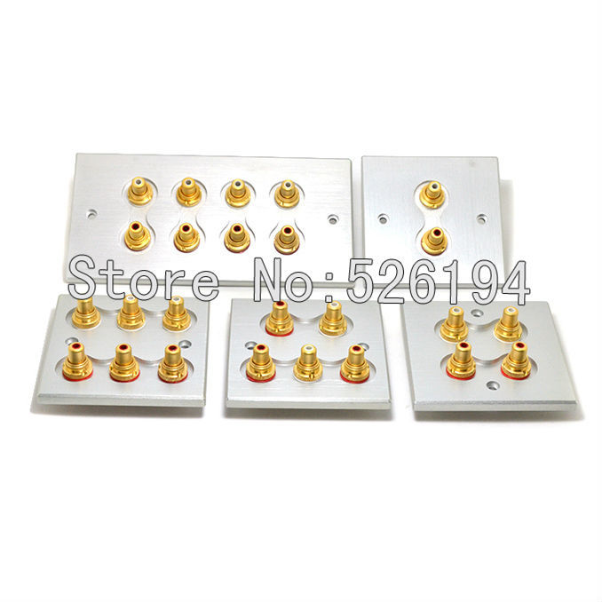 Free shipping Acrolink Hi-End Gold plated wall type RCA socket speaker terminal free shipping 4 colour gold plated rca socket rca connector 8pcs lot