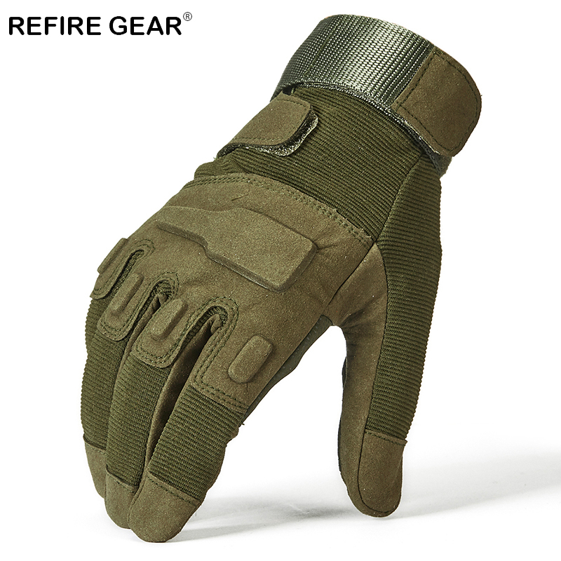 Refire Gear Cycle Style Outdoor Hiking Gloves Men Tactical Camping Full Finger Gloves Male Hiking Camping Hunting Bicycle Gloves