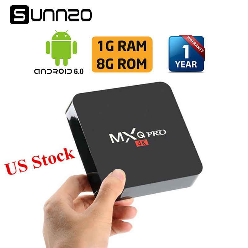 MXQ pro Smart Android 7.1 TV BOX Geladen Kodi 17,4 Set-top box 1 GB + 8 GB Quad Core Streaming Media Player 4 Karat Wifi PK X96