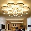 Минималистское кольцо современные светодиодные потолочные лампы светильники для гостиной  спальни дистанционное управление диммер потол...
