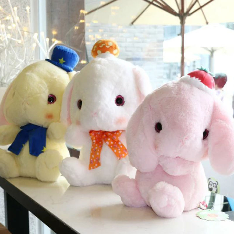 cute&bigger than you think rabbit plush pink bunny stuffed soft toy kids toy wear cap rabbit doll 32cm 45cm best gift for child baile pink bunny эрекционное кольцо с вибрацией