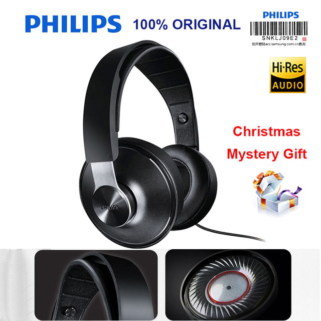 Philips SHP8000 Professional Headphones with Long Wires Microphone Volume Control Headset for Xiaomi MP3 Official verification