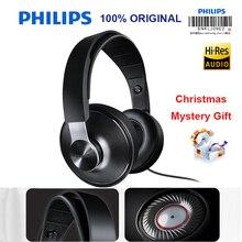 Philips shp8000 profissional fones de ouvido com fios longos microfone controle volume fone para xiaomi mp3 verificação oficial