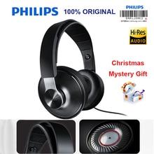 פיליפס SHP8000 מקצועי אוזניות עם חוטים ארוכים מיקרופון נפח בקרת אוזניות לxiaomi MP3 רשמי אימות