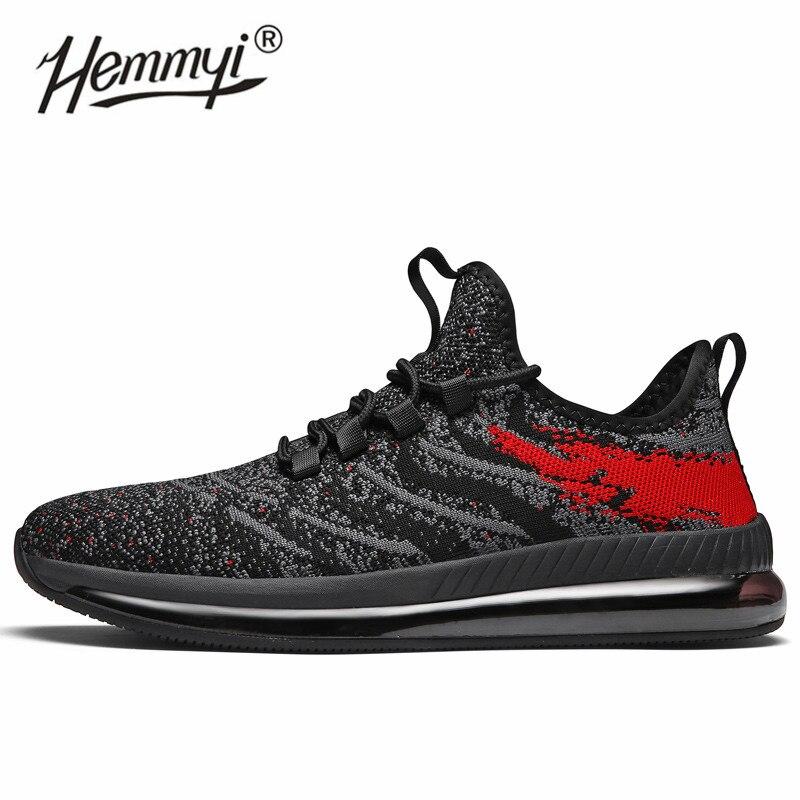 Hemmyi Air semelles baskets hommes de haute qualité Designer amorti Sport chaussures de course en plein Air Flywire Fitness Jogging chaussures hommes