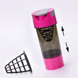 400 500ml Shaker białka na zewnątrz butelki Shaker butelka białka Shaker do mieszania proszku białka serwatki sportowe butelka na wodę fitness|Shakery|Dom i ogród -