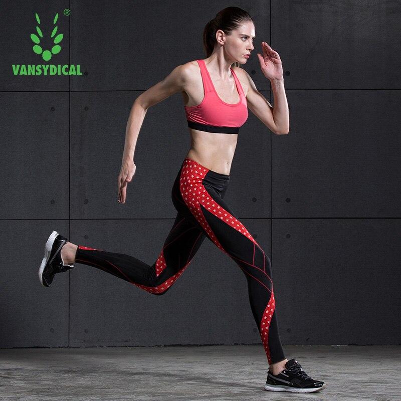 Vansydical Womens Leggings Printed Yoga Fitness Pants