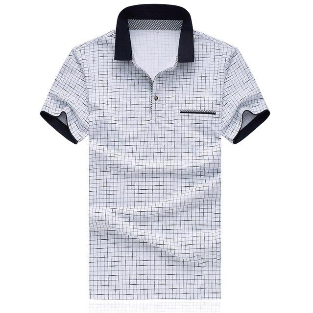 Polo Hombres de la Marca 2016 Camisa de Polo de Los Hombres de Polo de Primavera Marca Famosa Mens Polos Equipada M-xxxxl 5XL D0160