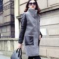 2016 sheep fur wool berber fleece fur one piece women's overcoat medium-long outerwear