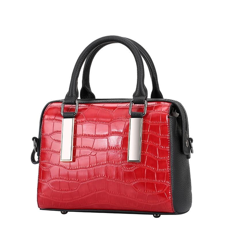 Genuine leather bag ladies crocodile pattern women messenger bags handbags women
