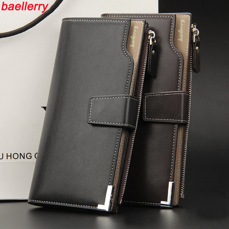 2018 men's baellery business clutch wallets famous brand male purse luxury cards money holder bag carteira masculina men wallets baellerry small mens wallets vintage dull polish short dollar price male cards purse mini leather men wallet carteira masculina