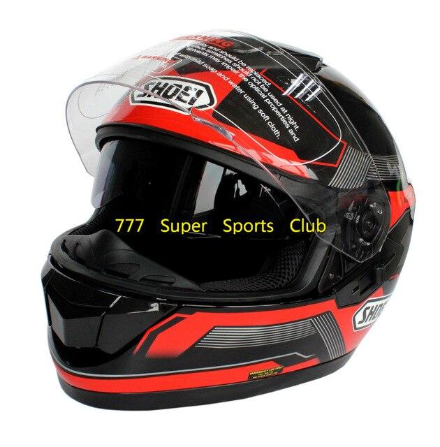 Aprobado por el dot gt-aire lente doble casco de moto capacete casco de la cara llena cascos de motoqueiro párr moto shoei
