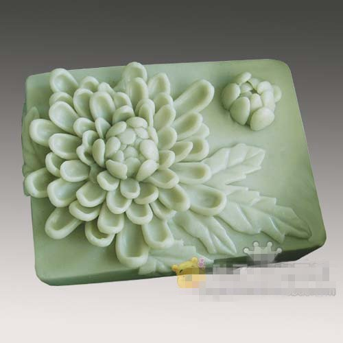 Хризантема гүлі силиконды сабын заты Қолмен жасалған силикон 3d қалып DIY қолөнер қалыптары S178
