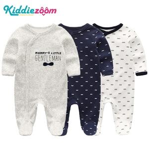 Image 1 - 2019 Kız Giyim Unisex 0 12 M Pamuk Bodysuits Bebek Kız Giysileri Yeni Doğan Yıldız Çizgili Erkek Bebek Giysileri Ropa bebe 2/3 ADET