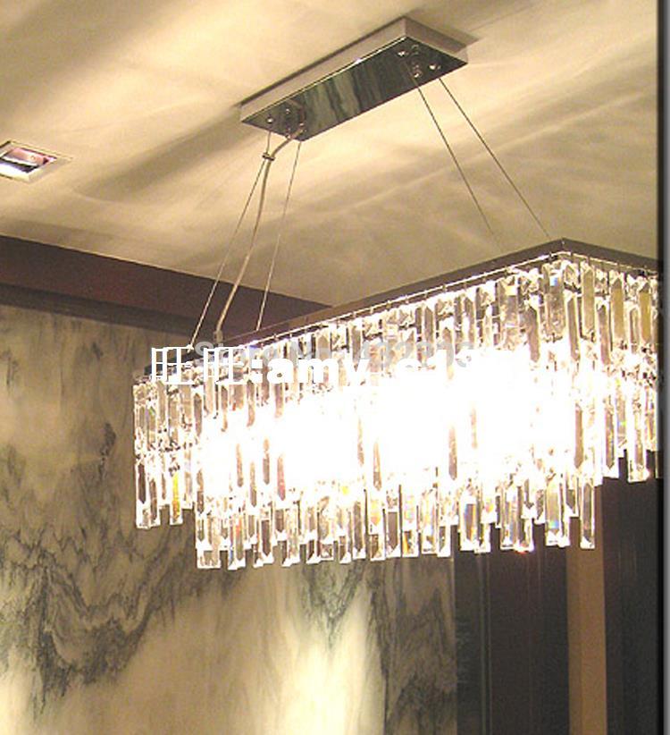 Modern Rectangle K9 Crystal Chandelier Home Decorative