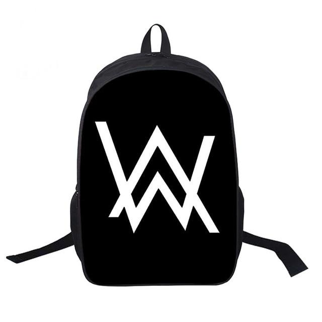 Alan Walker DJ School Bags Women Men Daily Backpack Laptop Backpack For Teenage Girls Boys Casual Rucksack Travel Bags