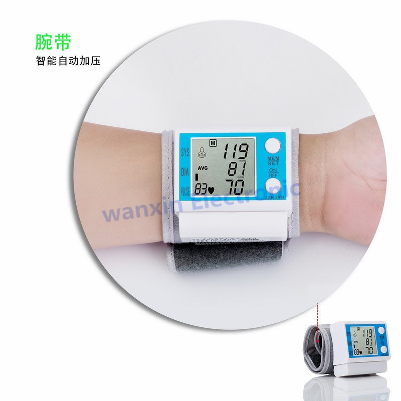 16 New Household Health Monitors Wrist Blood Pressure Monitor Automatic Digital Medical Equipment Health care Sphygmomanometer 6