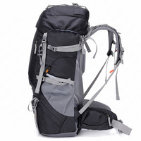 60L Hiking Backpack Climbing Bag Outdoor Aluminium Alloy External Frame Rucksack Nylon Waterproof Sport Backpack