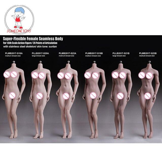 تبلو 1/6 امرأة تمثال الجسم شاحب Suntan الجلد سلس نموذج لجسم الإناث مجموعات لمدة 12 بوصة عمل الشكل