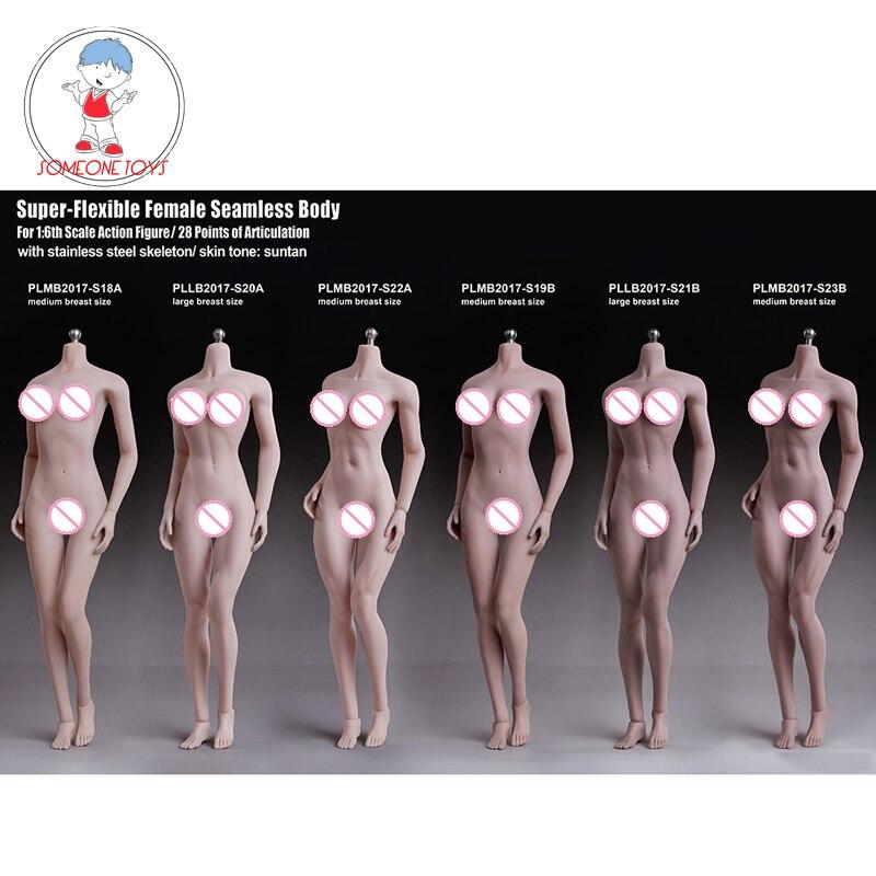 US TBLeague PHicen 1//6 PH Female doll Big breast Suntan Figure S21B body //Head