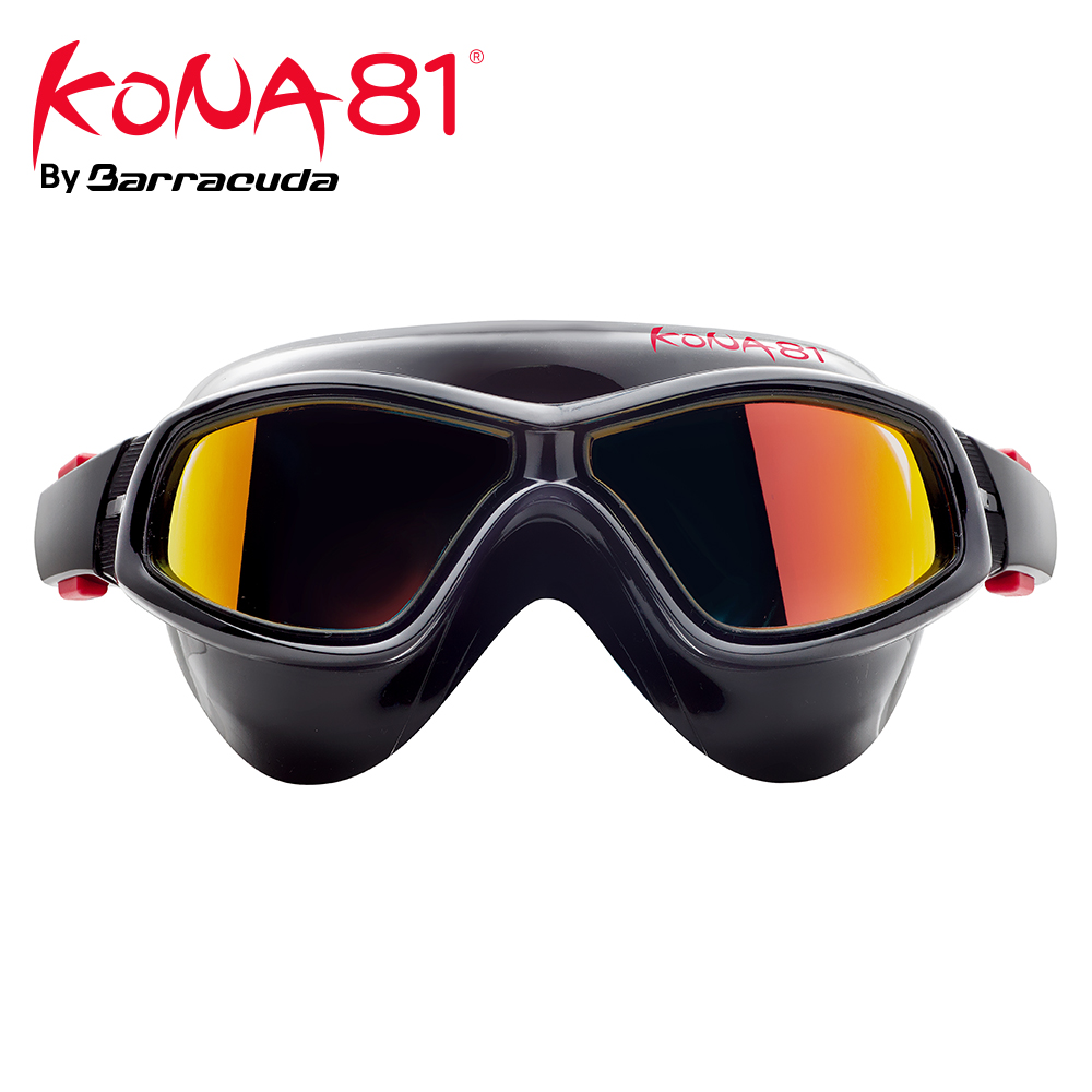 Barracuda KONA81 Swimming Goggles K934 Mirror Curved Lenses Anti fog UV Protection Triathlon for Adults 93410