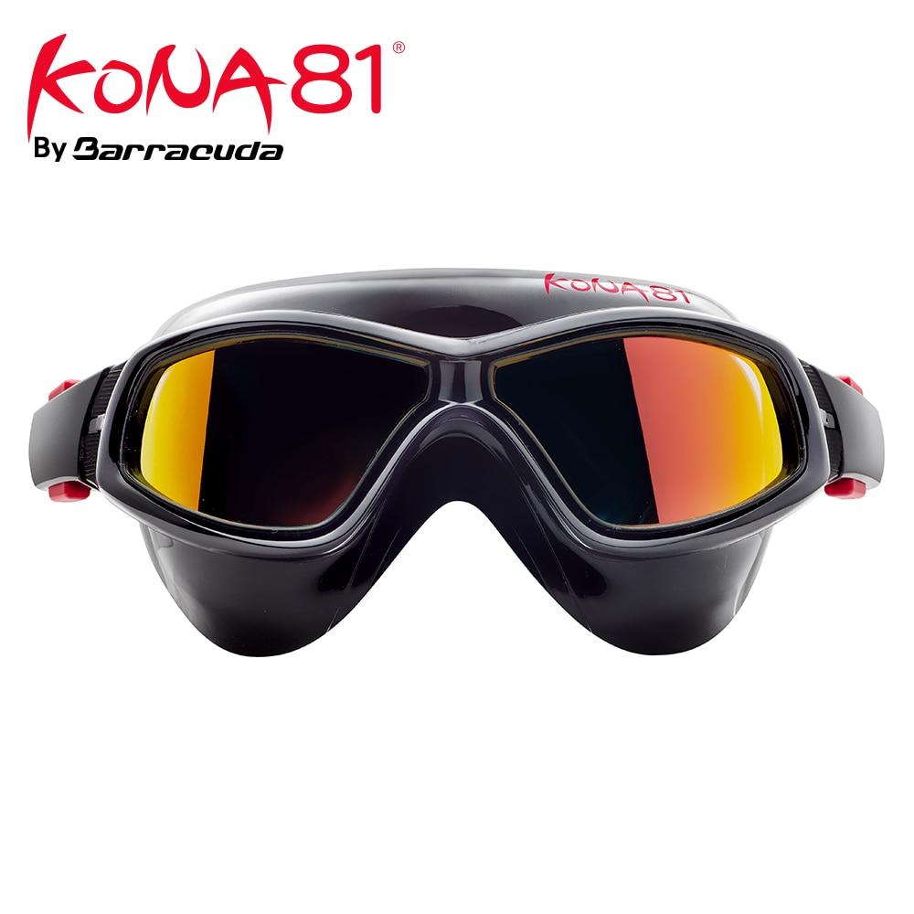 Barracuda KONA81 Nager Lunettes K934 Miroir Courbe Lentilles Masque Joints En Silicone Anti-brouillard UV Protection Triathlon pour Adultes #93410