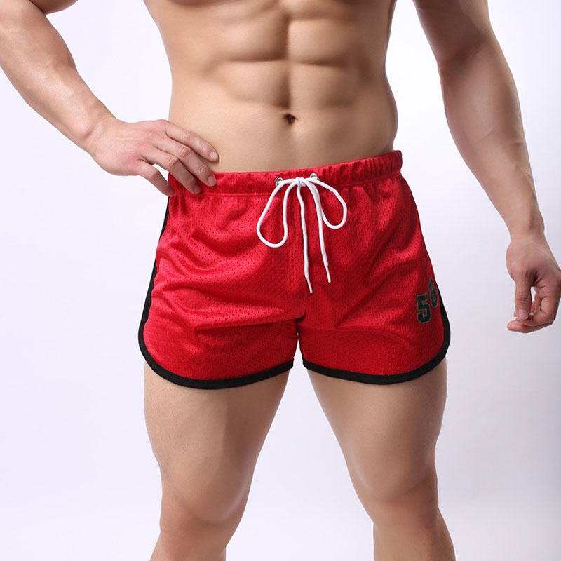 High Quality Men Quick-drying Short Casual Male Shorts Breathable Mesh Printed 58 Shorts 016