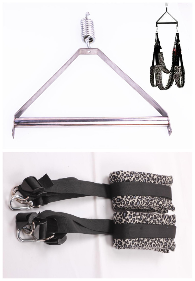 1Set  Adult Love Game Sex Swing With Steel Tripod Fetish Bondage Furniture Toys For Couples Women,Erotic Sex Swings fetish sex furniture harness making love sex position pal bdsm bondage product erotic toy swing adult games sex toys for couples