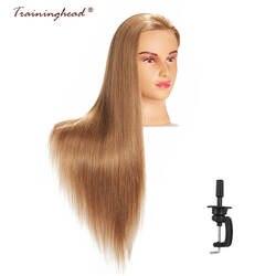Traininghead 26-28 ''синтетические волокна волос салон манекен головы для париков Учебные головы-манекены манекена косметологии голову куклы