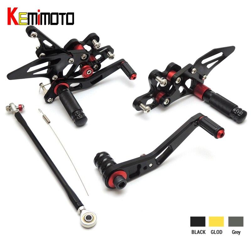 KEMiMOTO CNC Adjustable Rear Sets Foot Rest Pegs For Suzuki GSX-R600 GSX-R750 2011 2012 2013 2014 2015 2016 GSXR600 GSXR750KEMiMOTO CNC Adjustable Rear Sets Foot Rest Pegs For Suzuki GSX-R600 GSX-R750 2011 2012 2013 2014 2015 2016 GSXR600 GSXR750