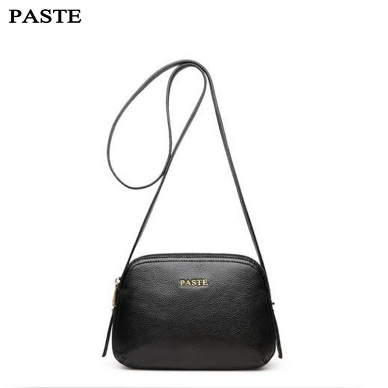 PASTE Famous Brand New 2017 Women Genuine Leather Shoulder Bag Shell Bags Casual Handbags Small Messenger Bag Girls Gifts