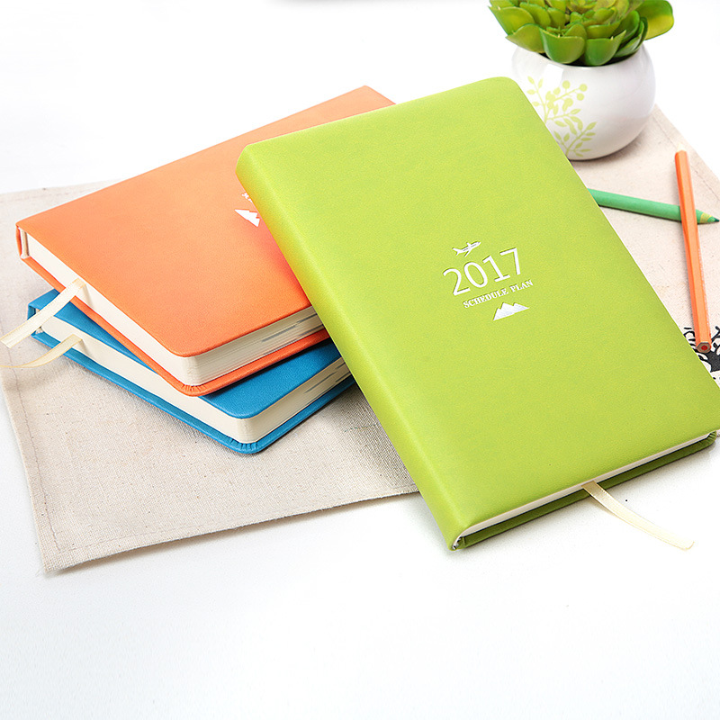 где купить  2017 calendar daily plan 365 days efficiency manual notepad organizer agenda planner journal office business notebook diary  по лучшей цене