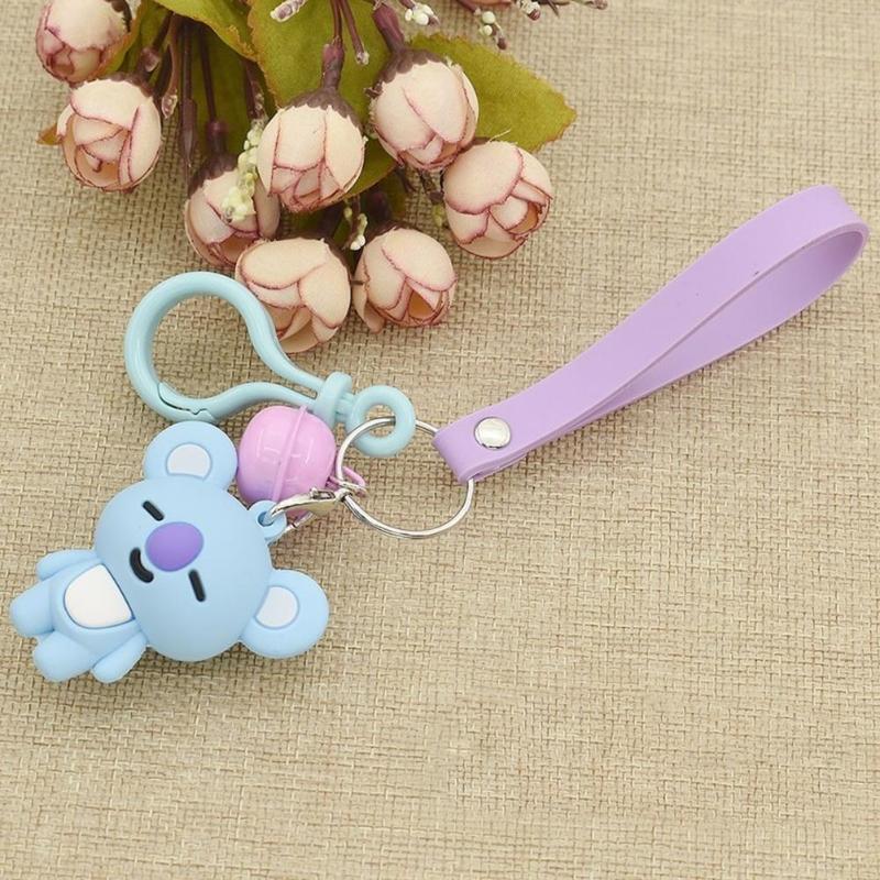 Cute Korean Women Men Cartoon Character Keychain Key Rings Bags Pendant Birthday Gifts Key Hook for Girls Boys Dropshipping