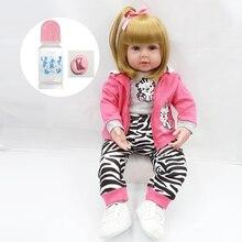 bebe reborn girl Soft Silicone Reborn Dolls Baby Realistic Doll Reborn Vinyl Boneca with cloth body For Girls toy