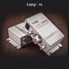 Lepy LP-A6 Mini Car Audio Amplifier 2 Channal Hi-Fi Stereo Output Power Volume Control AUX Mobile Phone MP3 MP4 Subwoofer