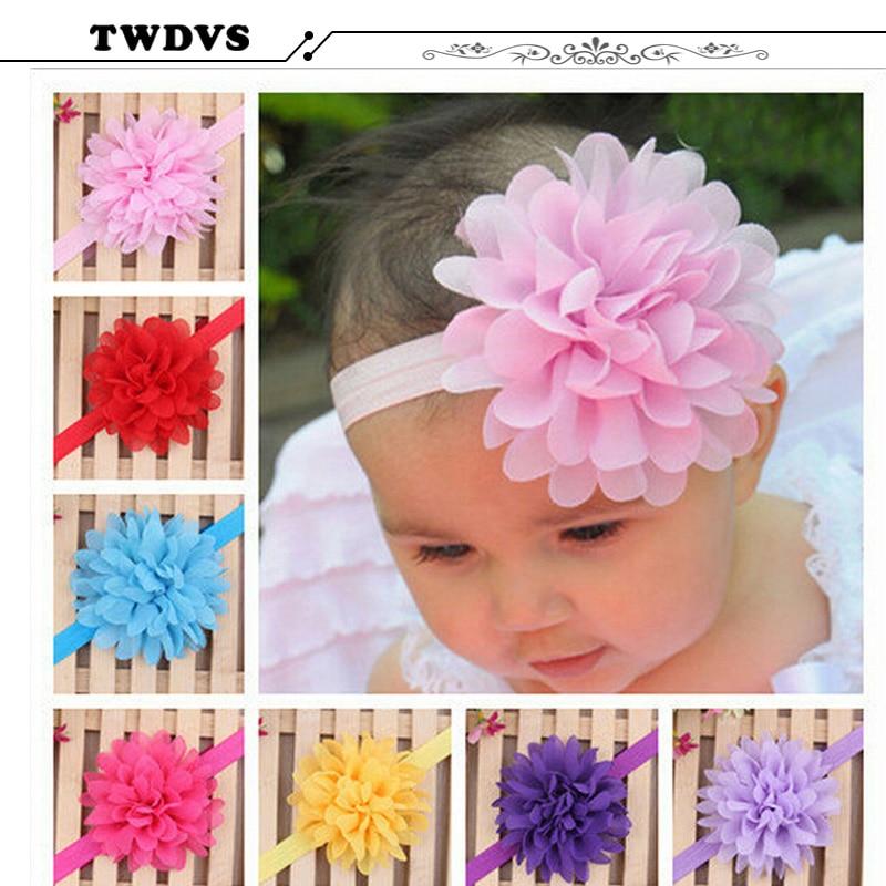 Newborn baby hairband Baby Headband Flower Princess Headband Elastic Flower Hairband Headwear Photographic Props w070