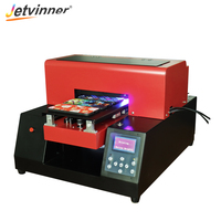 Jetivinner Advanced 6 color Printer Inkjet Printers A4 UV LED Print Machine for Phone Case, Acrylic, Leather, TPU, Metal, Wood