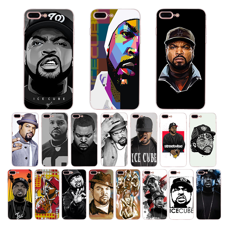 Weiche silikon telefon fall für iphone x xs xr xsmax 8 7 6 s 6 plus <font><b>5</b></font> s se <font><b>5</b></font> amerikanischen Pop rapper Ice Cube TPU mobile abdeckung shell image
