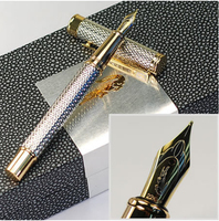 Luxury Office & business Supplies Crocodile 218 metal silver raised ink pen High Quality Best Design Fountain pen gift