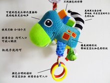 Baby Stroller Hanging Toys,Soft Plush Animal Bell Rattle Teether Wind Chimes Stroller Musical Educational Toys for Baby Infant Kids