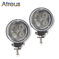 2pcs 3 Inch 12W 4D LED Work Light 12V Spot For Indicators Motorcycle Offroad Boat Tractor
