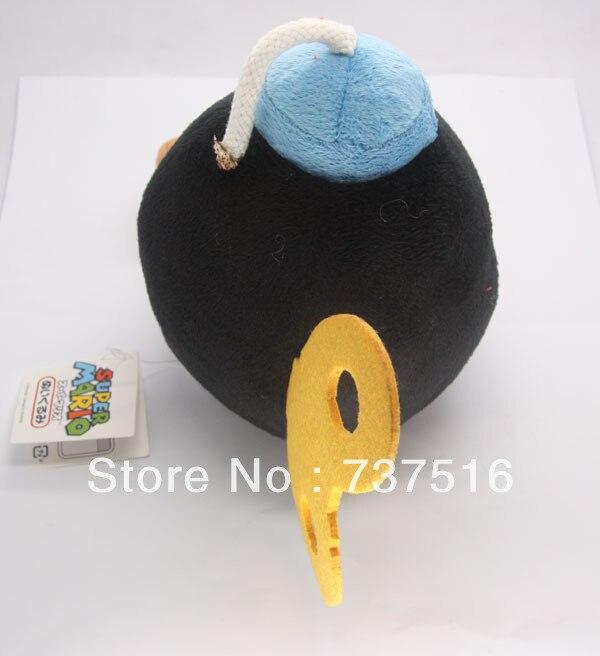 Super Mario Bros бомба чучела плюшевые мягкие куклы BOB-OMB БОМБА Игрушка 7 inch черный