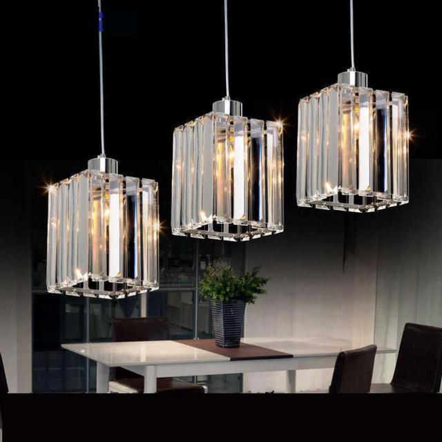 Lámpara colgante tres luces cristal colgante Lámparas comedor ...